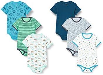 Care 550203 Bodys, Azul (Ombro Blue), 6-9 Months, Pack de 6