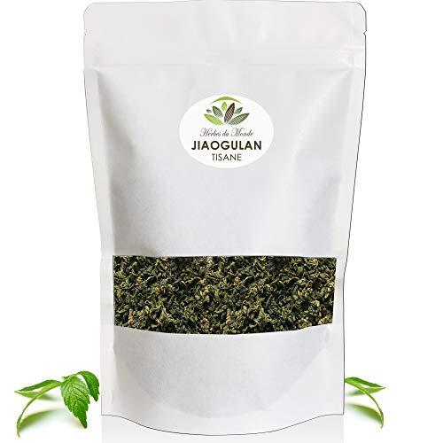 Thé Jiaogulan Feuilles séchées - Tisane de' l'immortalité' -100% de Gynostemma pentaphyllum, tonifiant efficace et puissant antioxydant naturel - 80g