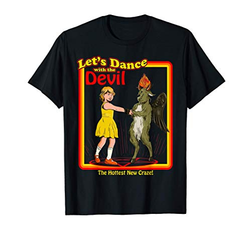 Witchcraft Let's Dance with the Devil Baphomet Satanic Funny T-Shirt
