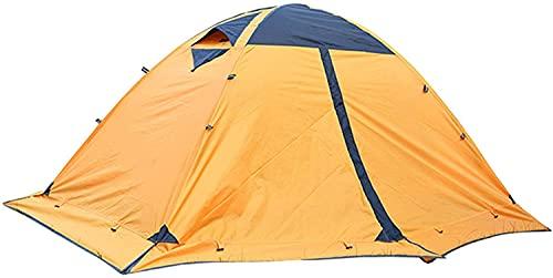 ZHZHUANG Tienda Camping Tienda Turística Tienda 2 Persona Tienda de Invierno Doble Coloque Tienda Mochilero Gazebo Al Aire Libre para Camping Senderismo,Amarillo,115X140X210Cm