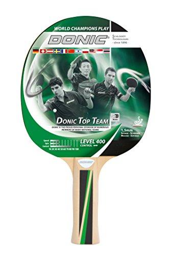 Donic-Schildkröt Tischtennisschläger Top Team 400, anatomischer Griff, 1,5 mm Schwamm, Jade - ITTF Belag, 715041