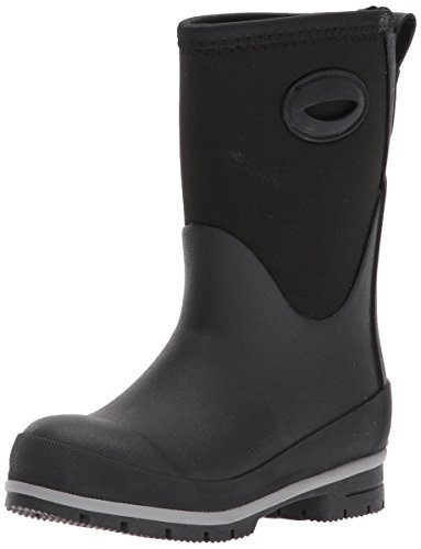 Western Chief Kid's Cold Rated Neoprene Memory Foam Snow Boot, Black, 5 M US Big Kid