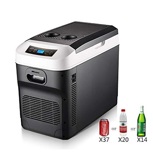 Mini Refrigerador De 28 litros para AutomóViles, RefrigeracióN De Doble NúCleo, Compresor PortáTil, Refrigerador/Congelador, Temperatura MíNima, Ajuste De 18 ° -65 °, 12 V / 24 V