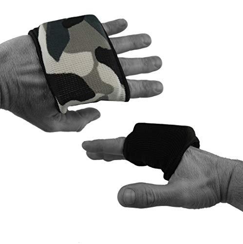 Dynamix Athletics Knuckle Guards EVO - Elastischer Knöchelschutz Bandagen Polster für Boxbandagen (Schwarz)