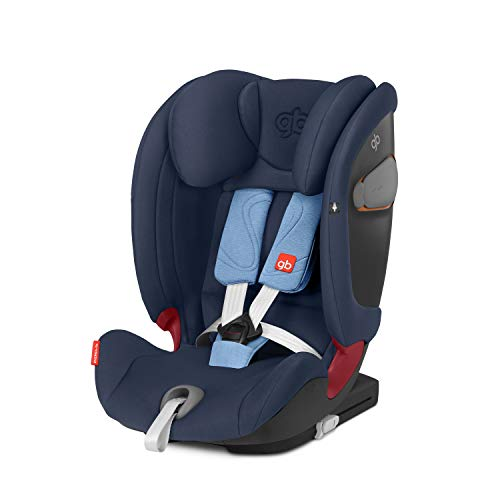 GB Gold Everna-Fix - Silla de coche para coches con ISOFIX, Grupo 1/2/3 (9-36 kg, De 9 meses a 12 años aprox.) Night Blue