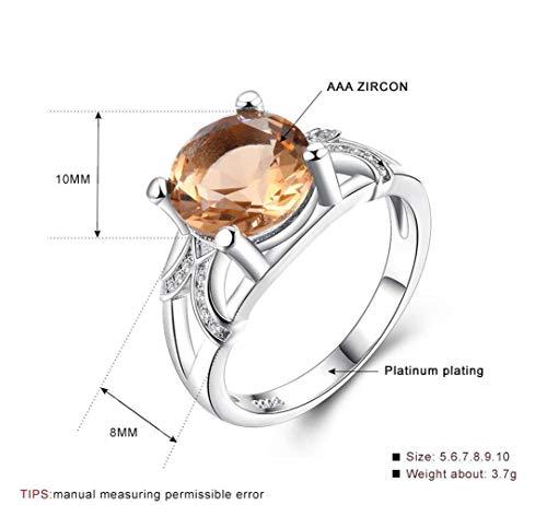 Thumby ring, kristal, wit, zilver, 925, witgoud-plating, 925 zilver, partyring, platte ring, klauw-set, diamant, aantrekkelijk, geometrisch, sexy, champagne go.