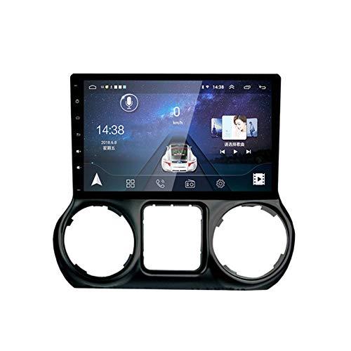 Android 10 2Din MP5 Player Para Jeep Wrangler 2011-2014 GPS Nave BT Música/Manos Libres Controles Del Volante Enlace Espejo Teléfono Android Y Iphone Compatible Con TPMS, DVR, OBD, DAB +,Wifi+4g,1+16G