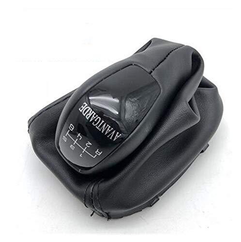 Pomo para Palanca Para Palanca Cambios Para Mercedes ParaBenz Clase C W203 S203 Classic Elegance Avantgarde 5 Velocidad 6 Engranaje Con Funda De Piel Cubierta De La Caja De Arranque Pomo Cambio de Mar