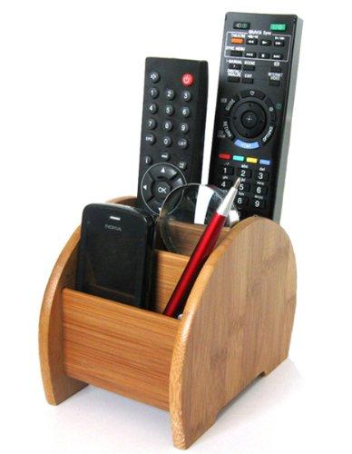 Support de rangement pour télécommande en bambou