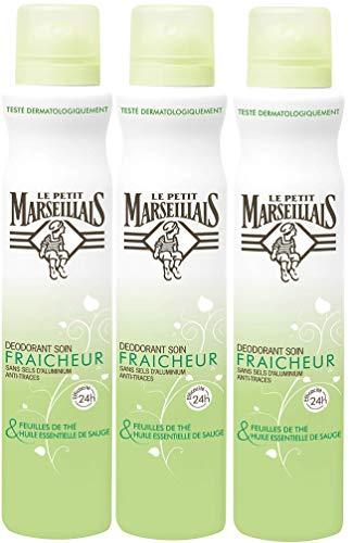 Le Petit Marseillais Déodorant Soin Fraicheur 24H Sauge/Feuil The Spray 200 - Lot de 3