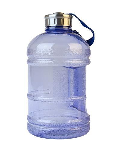 multibrands Gym Bottle Fitness 1890 ml, libre de BPA, XXL botella 1/2 galones (azul claro)