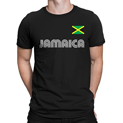 SpiritForged Apparel Jamaica Soccer Jersey Men's T-Shirt, Black Large