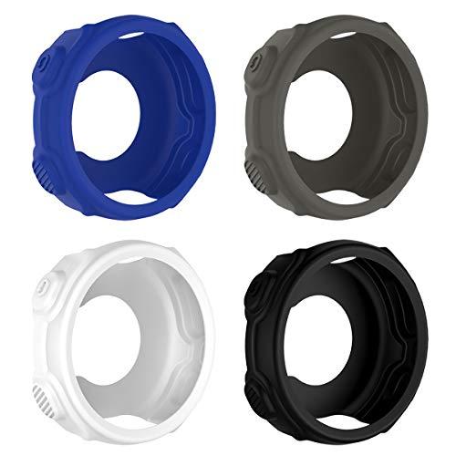UKCOCO Funda Garmin Forerunner 235, 4 Piezas Case Protectora de Silicona Suave A Prueba de Golpes Estuche para Smart Watch Garmin Forerunner 235 735XT (Azul/Blanco/Gris/Negro)