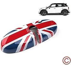 Zorratin Union Jack UK British Flag Interior Rear View Mirror Cover Decal for 2007-2014 BMW MINI Cooper R55 R56 R57 etc (For Standard Mirror w/o Auto Dim nor Garage Opener)