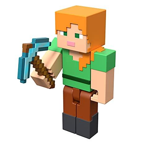 Minecraft GTT49 - Craft-A-Block, Alex, Figur aus dem Sortiment, authentischer Charakter aus dem Videospiel, Sammelspielzeug für Fans ab 6 Jahren