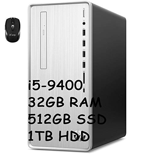 HP Pavilion Premium Gaming Desktop Computer 9th Gen Intel Hexa-Core i5-9400 (Beats i7-7700HQ) 32GB DDR4 512GB PCIe SSD 1TB HDD...