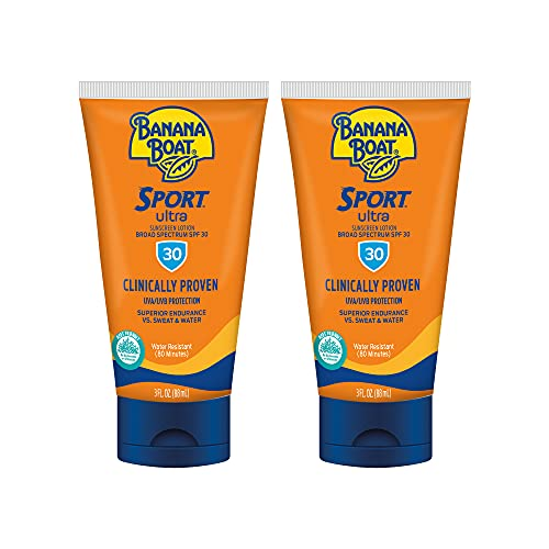 Banana Boat Sport Ultra, Reef Friendly, Broad Spectrum Sunscreen Lotion, SPF 30, 3oz. + 6oz. - Pack of 2
