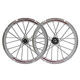 ZNND Ruedas De Bicicleta MTB 16 Pulgadas Llantas De Aluminio del Cassette del Eje V Freno De Liberación Rápida Delantera Y Trasera 11 Velocidad Plegables (Color : C)