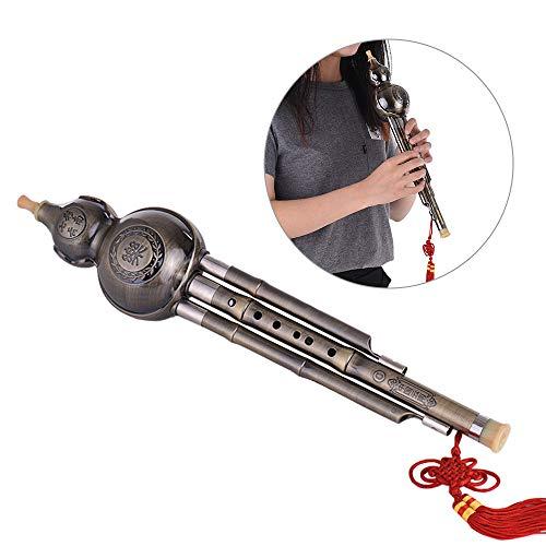 JIASHU Kürbis Kürbisflöte Hulusi Holzblasinstrument C-Taste für Anfänger Kinder - Traditionelles chinesisches Volksblasinstrument Musical Kinder Geschenk Spielzeug