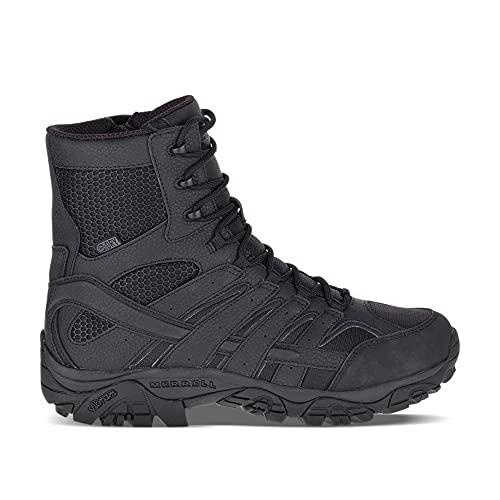 Merrell Men's Moab 2 8″ Tactical Waterproof Military Boots, Black, 12