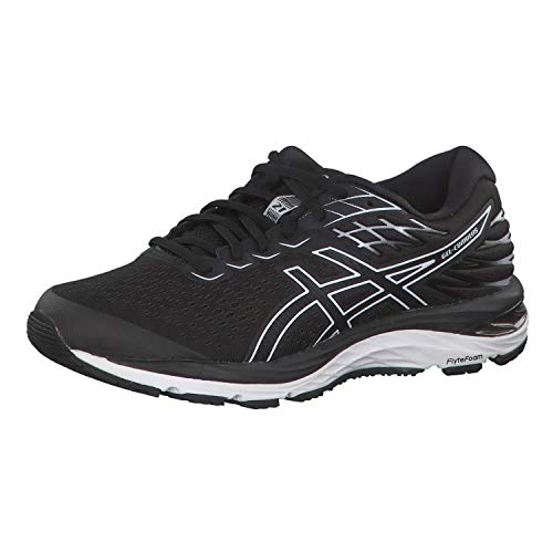ASICS Womens Gel-Cumulus 21 Running Shoe, Black/White, 37 EU