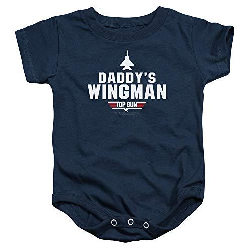 Top Gun Daddys Wingman Baby Onesie Bodysuit, 6 Months