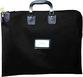 Locking Briefcase Style Courier Bag (Black)