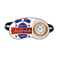 オーストラリアのオーストラリアの日の旗 睡眠時計旅行昼休み眼帯