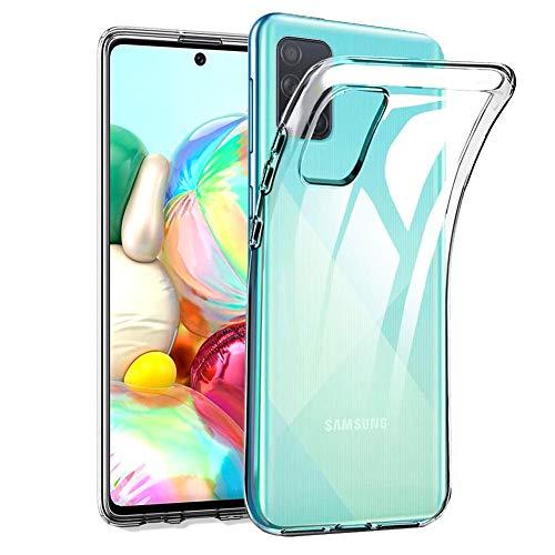 Amonke Schutzhülle Transparent für Samsung Galaxy A71 - Flexible Samsung A71 Handyhülle Stoßfeste Silikon Durchsichtig,Ultra Klar TPU Thin Slim Soft Hülle Cover Handytasche Hülle für Samsung Galaxy A71