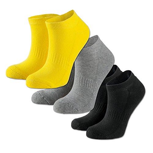 BVB Borussia Dortmund Sneaker Socken Socks 3er Pack (gelb/grau/schwarz, 39-42)