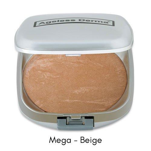 Ageless Derma Mineral Baked Foundation Makeup- A Vegan and Gluten Free Makeup Foundation (Mega Beige)