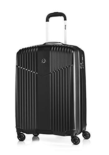 LEICHTGEWICHT Reisekoffer Hartschale Handgepäck TSA integriert S-19'(37L) von Verage V-LITE, 4 Rollen ABS/PC Trolley (Schwarz) mit...