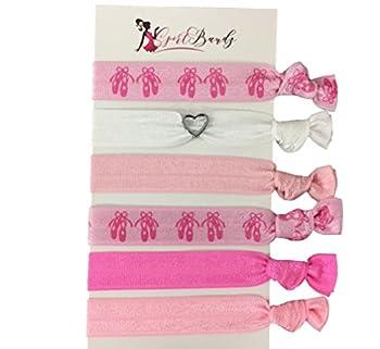 Infinity Collection Dance Hair Ties- Girls Ballerina Hair Accessories- Dance Elastics For Dance Recitals