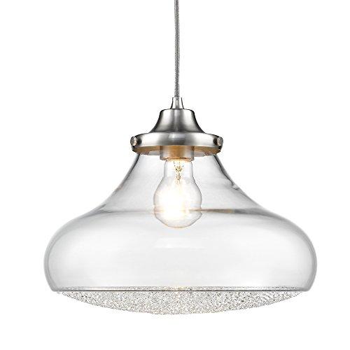 Golden Lighting 3417-L PW-CC Asha Pendant, Pewter