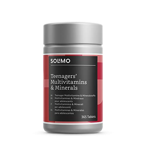 Amazon Brand - Solimo Teenagers' Multivitamins and Minerals Food Supplement, 365 Tablets