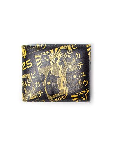 Bioworld Pikachu Manga dwukrotnie składany portfel portmonetka, 16 cm, czarny