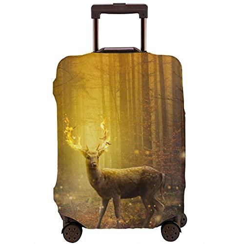 Cubierta de equipaje de viaje Dear Forest Digital Art Maleta Protector lavable Cubiertas de equipaje
