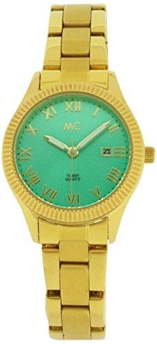 Orologio Donna Quarzo MC Timetrend display Analogico cinturino Placcato in acciaio inox Oro e quadrante Verde 51652