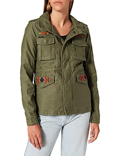 Superdry Crafted M65 Jacket M65-Chaqueta, Verde Oliva, XL para Mujer