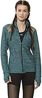 Campus Sutra Women Netted Thumb Hole Sports Jacket