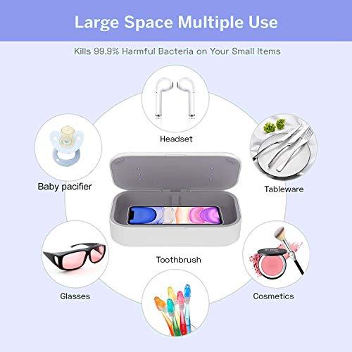 UV-Sterilisatorbox Desinfektionsbox für tragbare Telefonreiniger mit drahtloser 10-W-Ladefunktion und Aromatherapiefunktion für Handy-, Zahnbürsten-, Uhren- und Daliy-Zubehör