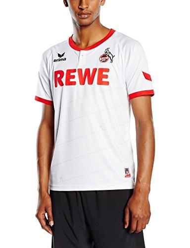 erima Herren FC Köln Home Trikot inklusive Rewe Logo, Weiß, XXL