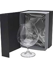 la galaica | Set de 1 Copa de Cristal para Coñac o Brandy - Tallada a Mano - Colección Gastro | Regalo Ideal para Bodas o 25 y 50 Aniversarios