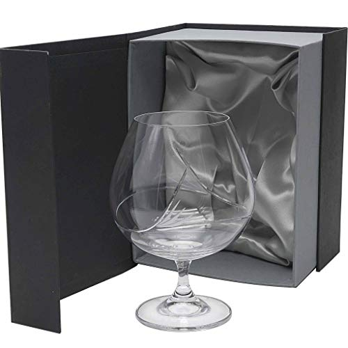 la galaica | Set de 1 Copa de Cristal para coñac o Brandy - Tallada a Mano - Colección Gastro.