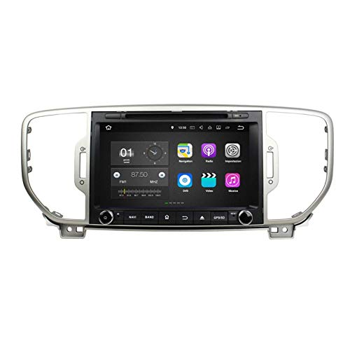Android 7.1 Autoradio Navigazione GPS per Kia Sportage(2016-2019), 8 Pollici Touchscreen Lettore DVD Radio Bluetooth