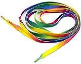 Herrer Rainbow Multicolor Flat Canvas Athletic Shoelace Sport Sneaker Shoe Laces Boots Strings