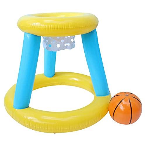 WishHome Piscina Inflable Aro de Baloncesto Juguete Flotante para Lanzar Agua Juguete para Deportes Acuáticos Al Aire Libre