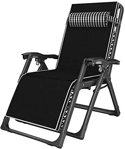 ADHW Reclinables, sillón reclinable Silla al Aire Libre, sillón Individual Acolchados, Balcón reclinables sillas de Ruedas, sillas de Ruedas de Interior, con la Almohada