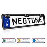 NEOTONE NTK-200P universelle Rückfahrkamera in Kennzeichenhalterung mit 2 Parksensoren | 170° Weitwinkelobjektiv | IP67 Feuchtigkeitsschutz | Höchste Qualität |