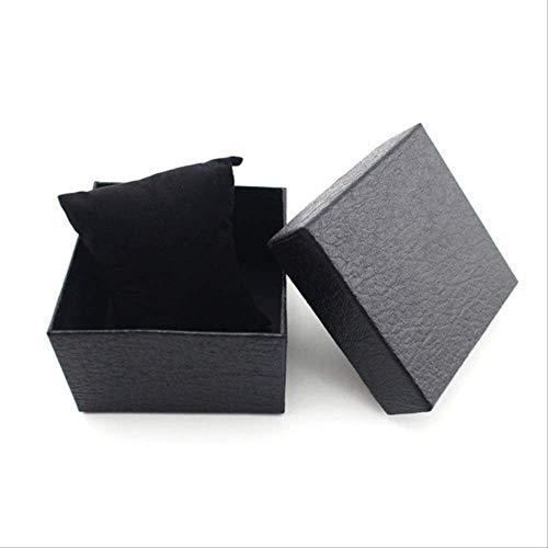 Geschenkdoos BLTLYX 10st Duurzaam aanwezig Geschenkdoos Case voor armband Bangle Sieraden Horlogebox Rood Zwarte dozen Geschenken voor meisjes 9 * 9 * 5.6cm Zwart